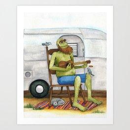 Ukulele Monster Art Print