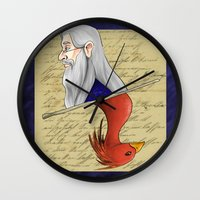 dumbledore Wall Clocks featuring Albus Dumbledore by Imaginative Ink