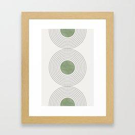 Fresh Pattern, Green Circle Framed Art Print