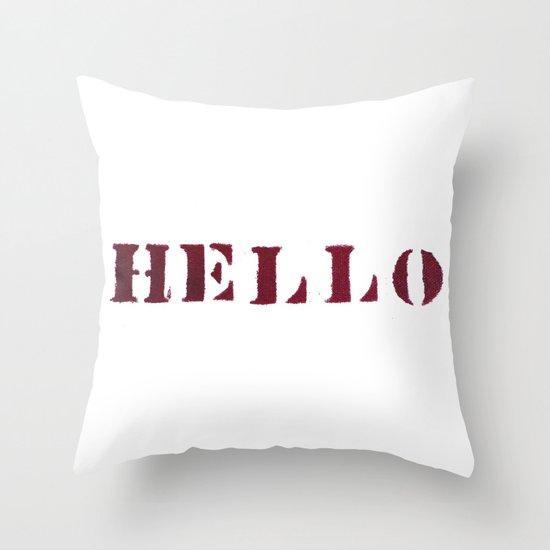 Hello You Throw Pillow