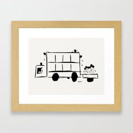 Jump On Board Framed Art Print