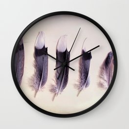 Dove Feathers Still Life Modern Cottage Modern Country A433 Wall Clock