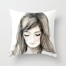 A portrait 4 Throw Pillow
