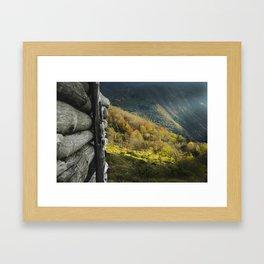 Late Autumn in Appennino Framed Art Print