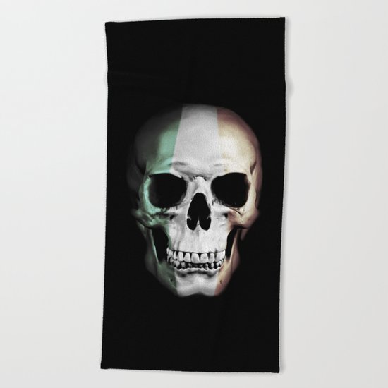 Irish Skull Beach Towel