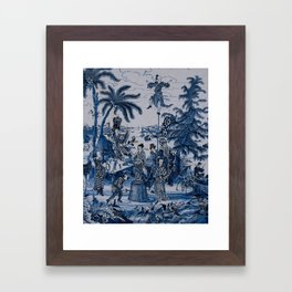 17th Century Delftware Chinoiserie Framed Art Print