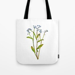 Forget-me-not flowers watercolor art Tote Bag
