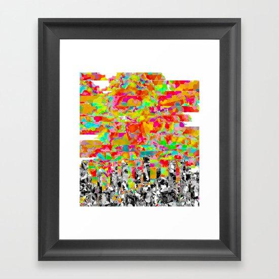 Metropolis Atmosphere Framed Art Print