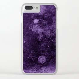 Violet grunge scratches texture Clear iPhone Case