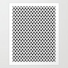 Bazaar 1 Black Art Print