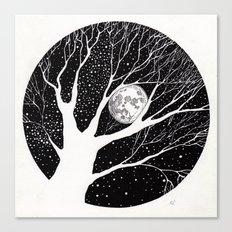moonlight shadow Canvas Print