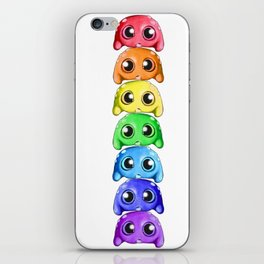 Bitty Rainbow Monsters iPhone Skin