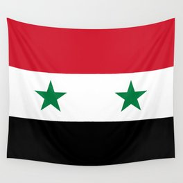Flag of Syria, High Quality image Wall Tapestry