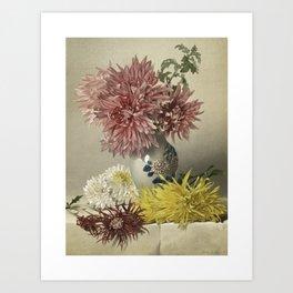 Chrysanthemum and Vase Art Print