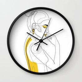 Lemon Girl Wall Clock