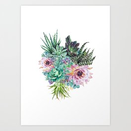 Succulent Bouquet Art Print