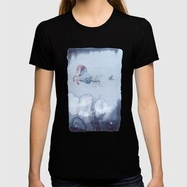 Hippocampus - Horse fish tail - Watercolor T-shirt