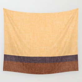 Simple Stripe Abstract with Burlap Pattern Wall Tapestry