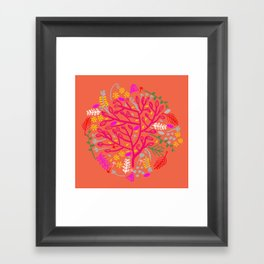 Folk Tree Framed Art Print