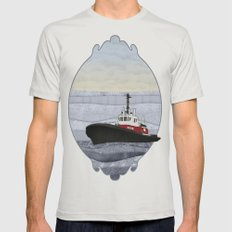 Tugboat Mens Fitted Tee Silver X-LARGE