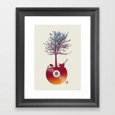Vinyl Tree 2 Framed Art Print