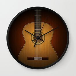 Classic Guitar Wall Clock