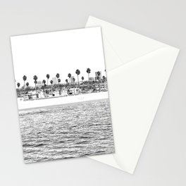 Vintage Newport Beach Print {4 of 4} | Photography Ocean Palm Trees B&W Tropical Summer Sky Stationery Cards