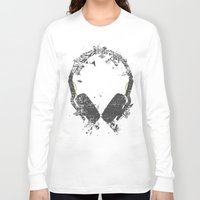 carnage Long Sleeve T-shirts featuring Art Headphones V2 by Sitchko Igor