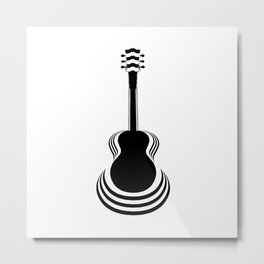 Acoustic Guitar Cutout Metal Print