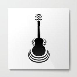 Acoustic Guitar Cutout Metal Print