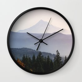 Mount Hood over the Columbia River Gorge Wall Clock