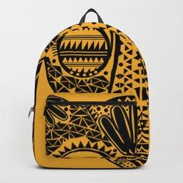 Black and Gold Jaguars Head Backpack