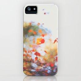 . Orange Leaves . iPhone Case
