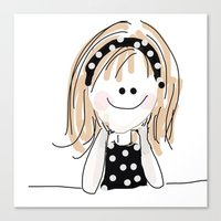 girly Canvas Prints featuring girly by Indraart