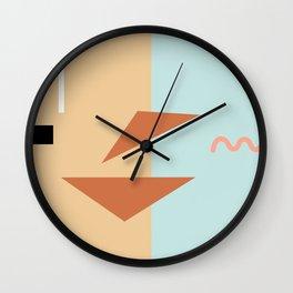 Croissant sandwich Wall Clock
