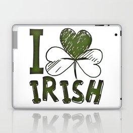 I Love Irish St Patrick's Day Green Shamrock Laptop & iPad Skin