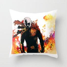 Onepunch Man Throw Pillow