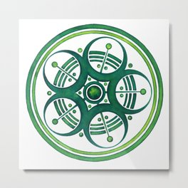 Radial Design Green No. 3 Metal Print