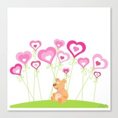 Bouquet of hearts Canvas Print