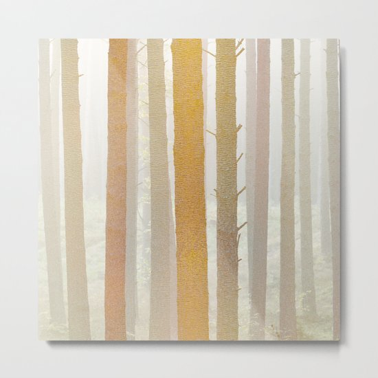 Golden Winter Forest 2 Metal Print