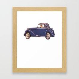 Vintage Car Oil Painting Framed Art Print