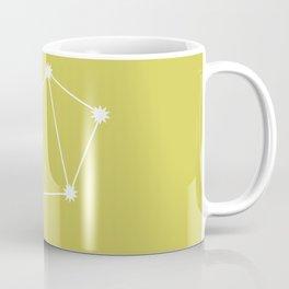 Libra Zodiac Constellation - Vibrant Green Coffee Mug