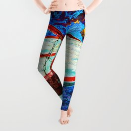 Colorful Modern Basketball Art Leggings