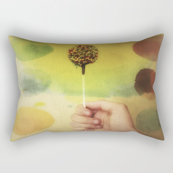 Once Upon a Time a Colorful Candy Rectangular Pillow