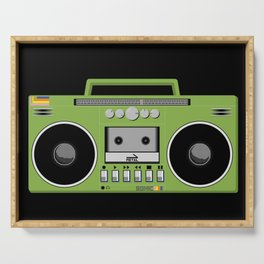 Retro Ghetto Blaster Serving Tray