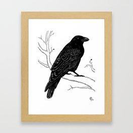 Inky Crow Framed Art Print