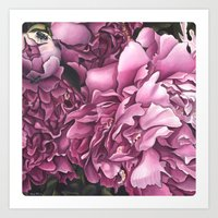 peonies Art Prints featuring Peonies by Jada Fitch
