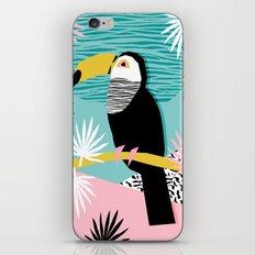 Loopy - wacka designs abstract bird toucan tropical memphis throwback retro neon 1980s style pop art iPhone & iPod Skin