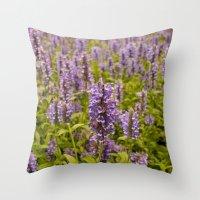 lavender Throw Pillows featuring lavender by Julio O. Herrmann