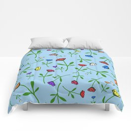 Colorful Flower Toss Comforters